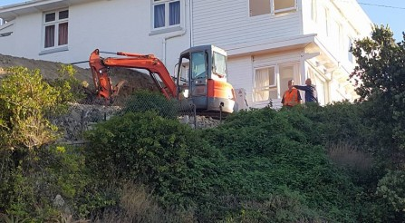 Digging out a new extension at Roseneath.