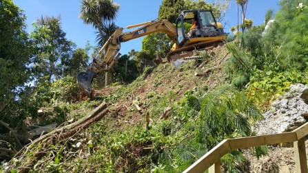Excavation for a new house in Raroa Road, Wellington.